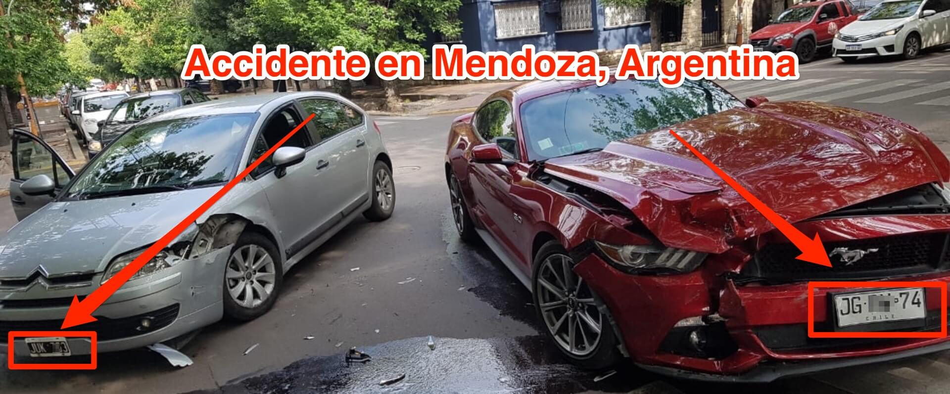 Accidente autos en Mendoza
